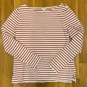 """J. Crew Factory red striped """"Breton"""" style top"""